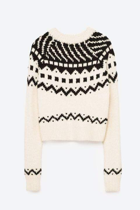 Found on Harper's Bazaar UK http://www.harpersbazaar.co.uk/christmas/news/g37307/christmas-jumpers-for-women-2016/?slide=13 Cropped Jacquard jumper, £29.99