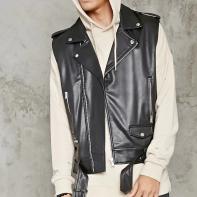 Forever 21 Belted faux leather sleeveless moto jacket - £27