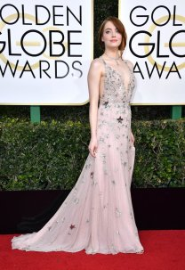 Emma Stone adorned in stars from Valentino