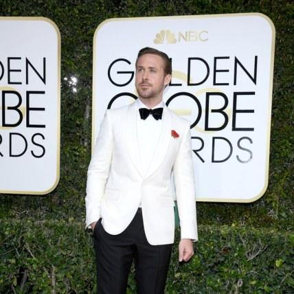 Ryan Gosling glowing in Gucci