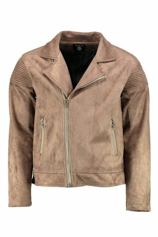 Suedette Biker Detail Jacket. £35 from Boohoo Man.