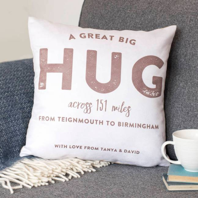 A personalised Hug Pillow from Notonthehighstreet.com A brilliant site for heartfelt gifts for loved ones.