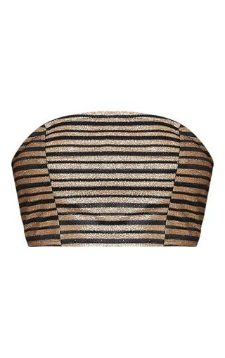 Lashelle Black Sparkle Stripe Bandeau Top - £6 - Pretty Little Thing